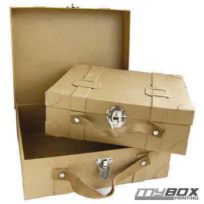 Cardboard suitcase boxes in london my box printing - Valise en carton vintage ...