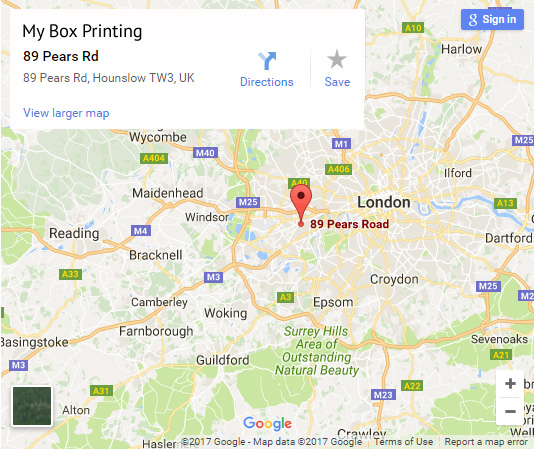 My Box Printing on Google Map