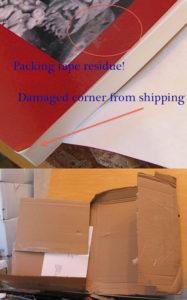 damaged book mailer