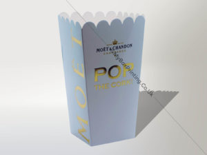Popcorn Boxes With Gold Foiling