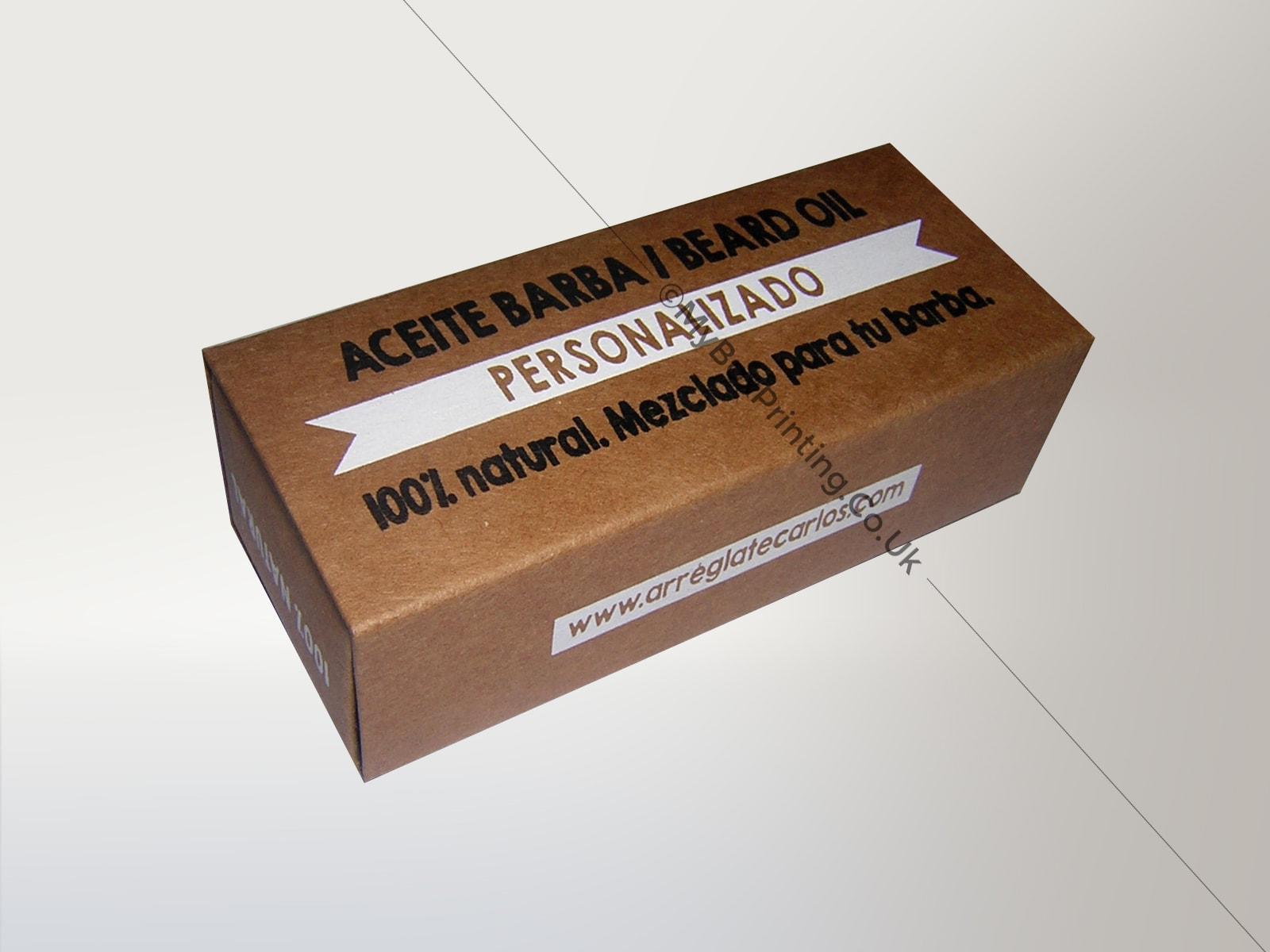Beard Oil Packaging Boxes
